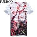 Los hombres de La Camiseta 2016 Verano Nueva Impreso Camisas de Los Hombres de Marca de Moda de Manga Corta T Shirts Floral Slim Fit Tops Tee CBJ-Z6537