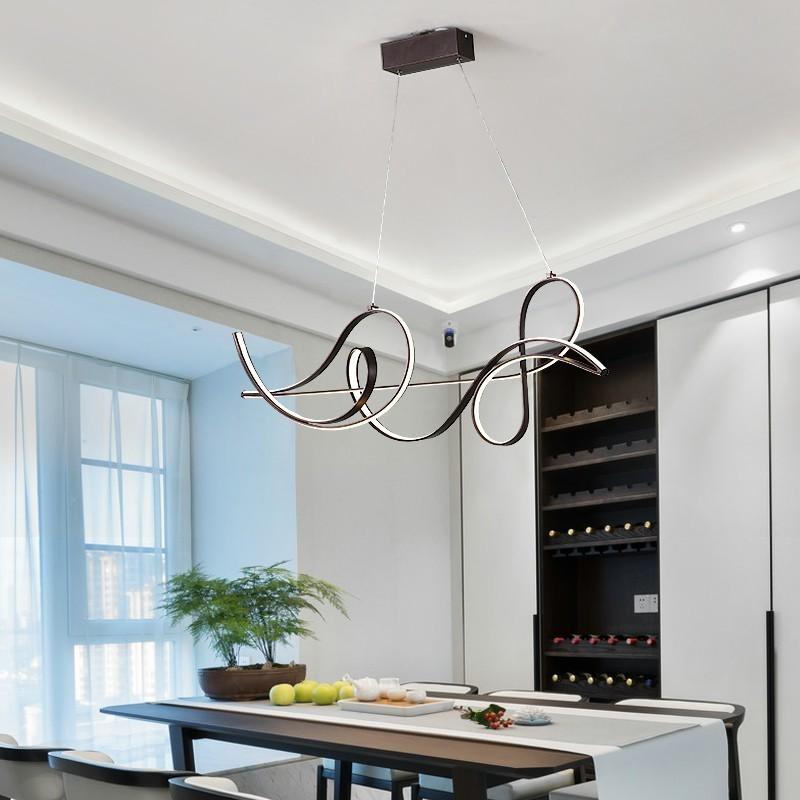 New Coffee Frame Modern Pendant Lights For Dining Living Room Fixtures Abajur Lighting Lustre Vintage Led