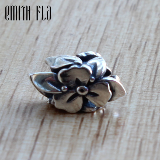 Emith Fla Genuine 925 Sterling Silver Charm Bead Fit Original OHM Bracelet Jewelry Beads for Jewelry Making Small Hole Beads