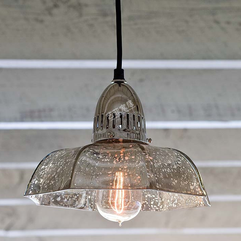 American Retro Industrial Loft Mercury Glass pendant light office lamps Cafe Single Head Restaurant pendant lamps LU729342 loft style vintage pendant lamp iron industrial retro pendant lamps restaurant bar counter hanging chandeliers cafe room