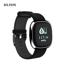 HLTON Sensible Bluetooth Wristband Health Tracker Band Blood Strain Waterproof Bluetooth Watch Well being Bracelet For iOS Android