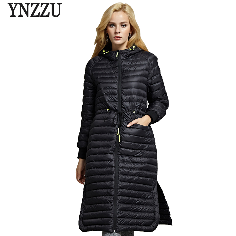 New Winter Woman   Down   Jacket Elegant SlimThin White Goose   Down     Coat   Fashion Split Female Jacket Outwears doudoune femme AO700