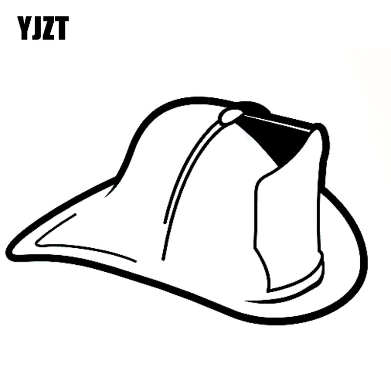 Exterior Accessories Analytical Yjzt 13x8.2cm Cartoon Fire Fighter Helmet Vinyl Decal Car Sticker Black/silver Fun Car-styling S8-1344 Goods Of Every Description Are Available