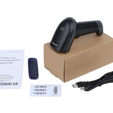 ZYXRZYL 2.4G Wireless 10M USB Laser Handheld Barcode Reader Scanner with Memory