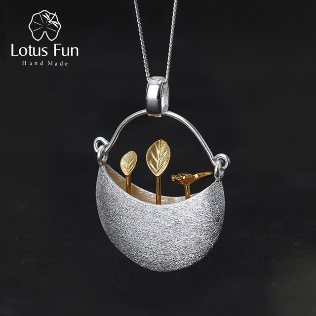 Lotus fun real 925 sterling silver handmade fine jewelry my little lotus fun real 925 sterling silver handmade fine jewelry my little garden design pendant without necklace aloadofball Choice Image