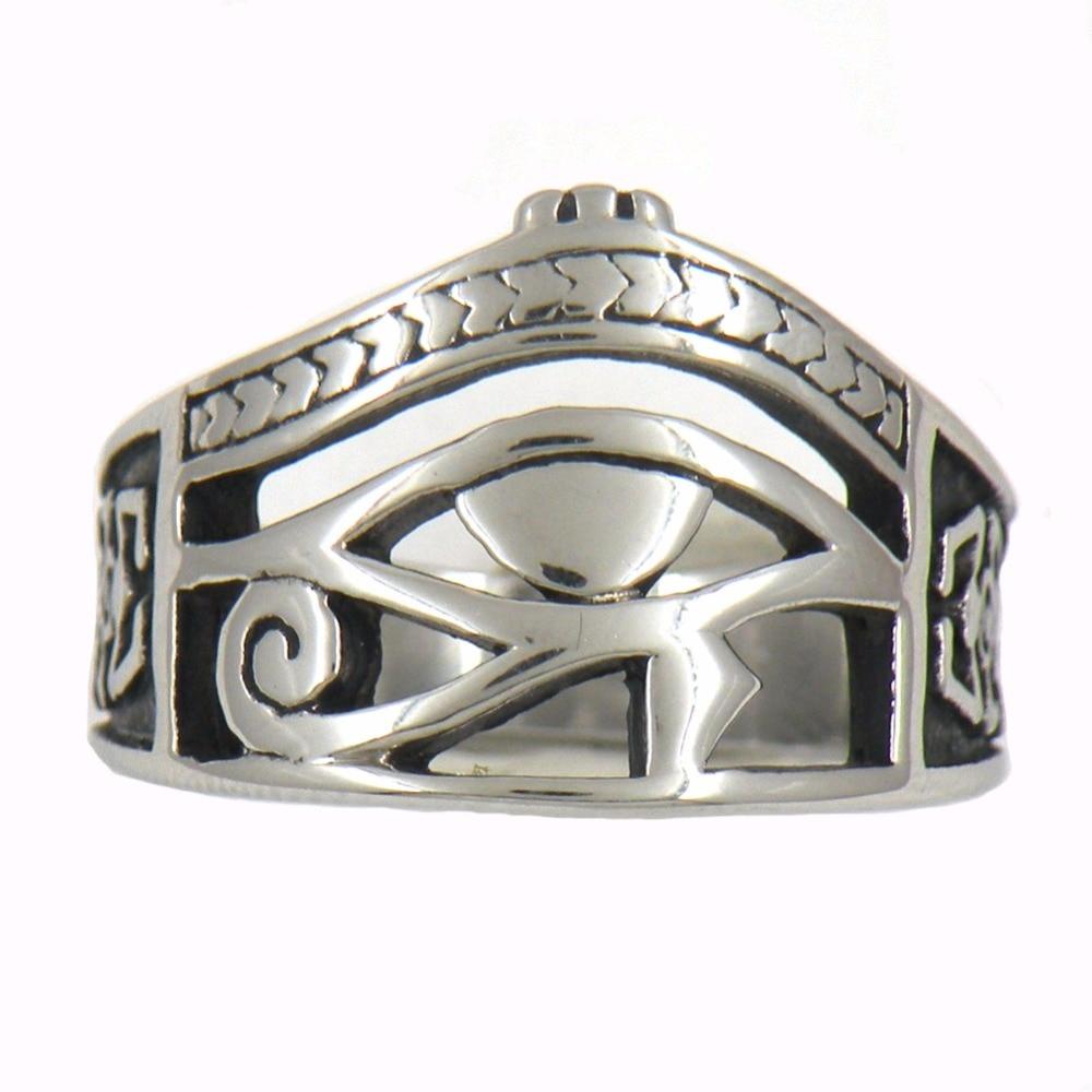 Fanssteel Stainless Steel Jewelry CRAB EGYPTIAN PHARAOH EYES RING FSR13W90 все цены