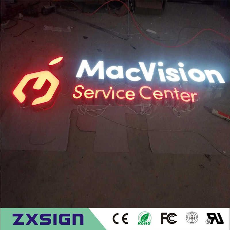 Factory Outlet Outdoor  Front  Illuminated Acrylic Letters/signs, Face Lit Channel Letters, Led Box Letters