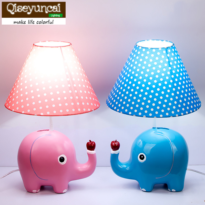 Qiseyuncai 2018 new Fashion boy cute cartoon like table lamp children bedroom bed head eye care creative warm adjustable lamp