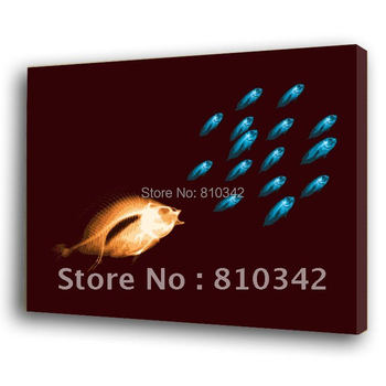Wholesale high quality painting POP art fish free shipping