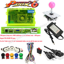 New Arrival DIY kit with Original Pandora Box 6 PCB 1300 in 1 Board joystick LED button For HDMI/VGA Arcade Game Machine 2019 new king of fighters joystick consoles with multi game pcb board 1300 in 1 pandora box 6 arcade joystick game console