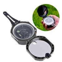High Precision Magnetic Pocket Transit Geological Compass Scale 0 360 Degrees