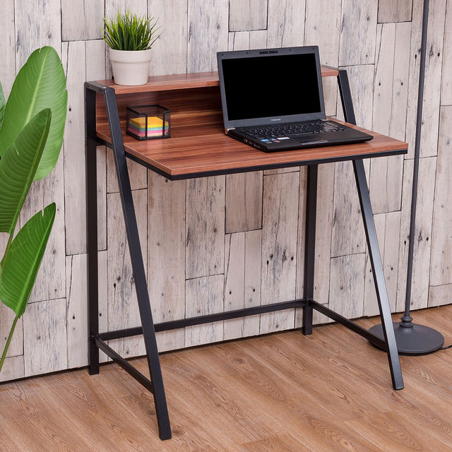 Giantex 2 Tier Computer Desk Modern PC Laptop Table Study Writing Wooden  Furniture Home Office Workstation