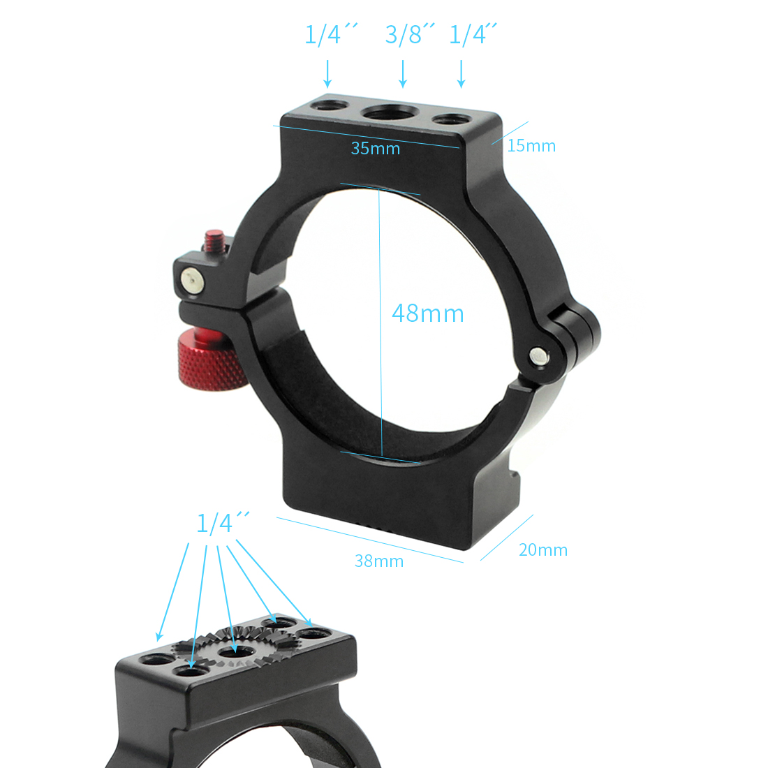 Extension Mounting Adapter for DJI Ronin S Applied to Camera Monitor Microphone Video Light Accessoires in Gimbal Accessories from Consumer Electronics
