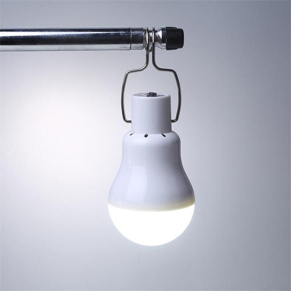 Pas de scintillement Solaire led Lampe 130LM Portable Camping panneau Led Éclairage suspension luminaire lumières Pour cour camp tente