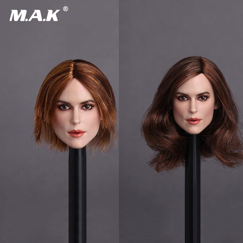 1:6 Scale European Sexy Curly Hair Female Head Sculpt Model Blond Short Head Carving Model For 12 Action Figure Doll
