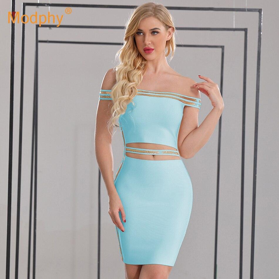 2019 Summer New Women's White Bandage Dress Sexy Sleeveless Strapless Sequins Bodycon Dress Club Celebrity Party Dress Vestidos