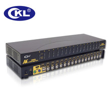 CKL 16 Port USB PS/2 HDMI KVM Switch, Monitor Keyboard Mouse Switcher Supports Auto Scan 1080P 3D Rack Mount (CKL-9116H)