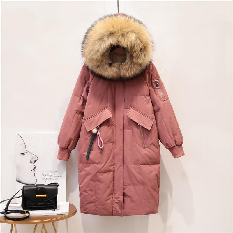 Duck   Down   Jacket women 2019 new arrival hooded women   down     coat   fur collar long   down     coat   female warm winter women   down   jacket