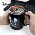 2019 disney 420 мл чашки Микки Маус для женщин мультфильм анти-горячие мужчины офисная чашка для кофе дети портативные молочные чашки из нержавеющ...