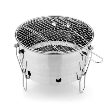 цена на Small barbecue oven outdoor stainless steel portable BBQ  grill net camping picnic charcoal  folding  outlet