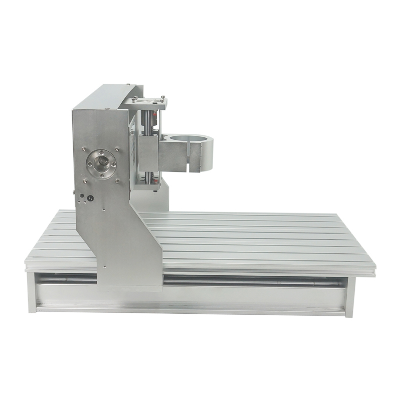 65mm Spindle Motor Clamp Assembled CNC 3040 Frame With Rotary Axis For Wood Carving Router Machine Aluminum Metal Engraver