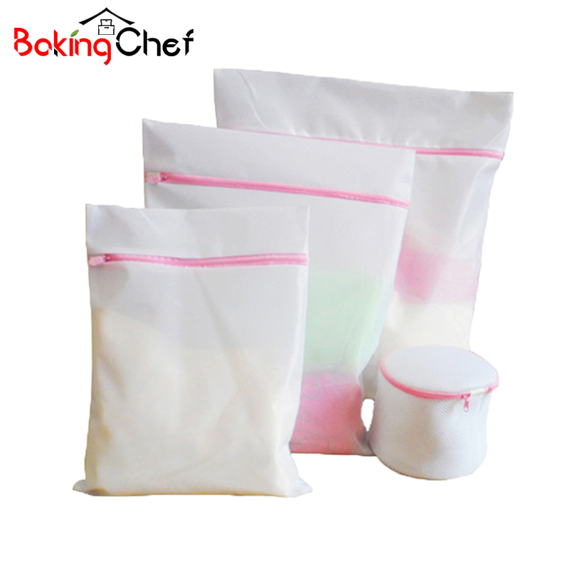 4PCS/set Mesh Laundry Bag Basket Bra Underwear Lingerie Clothes Wash Laundry hamper Household Cleaning Tool Accessories Product