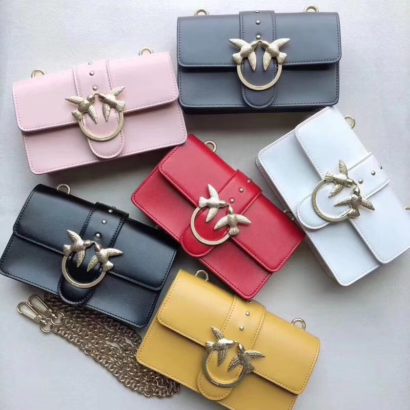 2bf037f6ab2cf En Iyi 2019 Yeni Moda swallow kilit askılı çanta lüks ünlü marka Klasik  stil çanta kadın. >>>