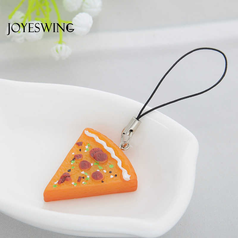 JOYESWING New Trendy 7 Pcs/Set of Pizza Shape Design Cute Hanging Charms for Friends Gifts Acrylic Resin Accessories Jewelry