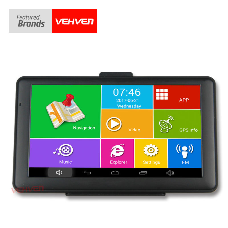 Original VEHVEN Android GPS 7 Capacitive Screen 8G Built-in AV-IN WIFI FM Truck Car Navigator Quad Core 1.3GHz Truck Map 5 resistive screen wince 6 0 gps navigator w fm transmitter tf 4gb brazil map black red