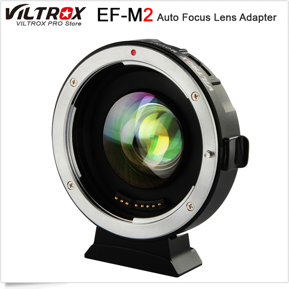 VILTROX EF-M2 0.71x Electronic Auto Focus Reducer Speed Booster Turbo Adapter for Canon Lens to M4/3 camera GH4 GH5 GF6 GX7 OM-D viltrox nf m43x focal reducer speed booster adapter turbo w aperture for nikon lens to m4 3 camera gh4 gh5gk gh85gk gf7gk gx7