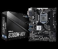 Full new ASROCK B360M HDV Eight Generation Core Board LGA1151 B360 DDR4 Support 8700