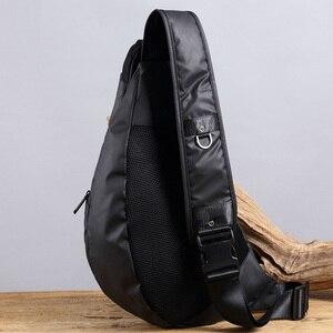 Image 5 - Men Waterproof Nylon Sling Chest Back Pack High Quality Casual Messenger Shoulder  Male Cross Body Bag Fashion Rucksack Knapsack