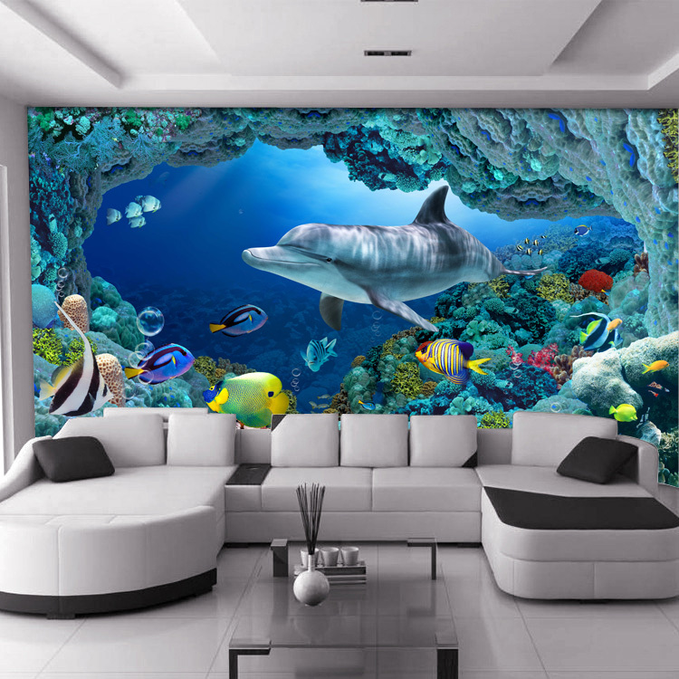 Online get cheap underwater wallpaper murals aliexpress for Cheap wallpaper mural