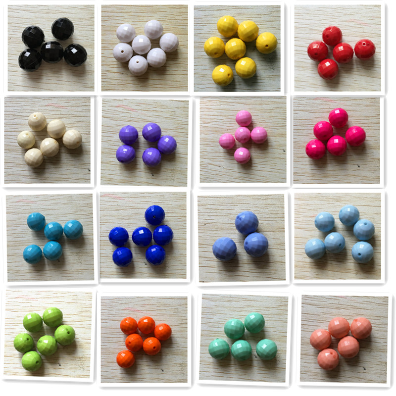 (choose Size And Color)10mm/12mm/14mm/16mm/18mm/20mm/22mm Round Earth Faceted Beads