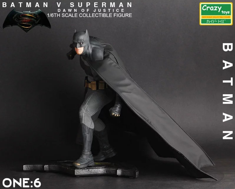 Batman Vs. Superman Combat Ver. Figurine Batman signe Base poupée PVC figurine jouet Brinquedos Anime 25 CM
