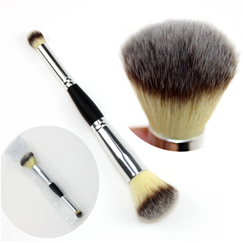 ELECOOL 1Pcs Professional Double Head Eyeshadow Brush Facial Foundation Blush Brushes Multifunction Makeup Tools