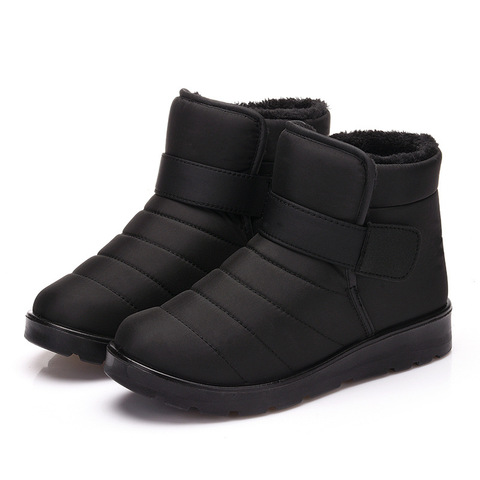 New 2018 women winter shoes unisex snow boots plush inside antiskid waterproof men boots women flat shoes big size 35-46 WSH3140 Karachi