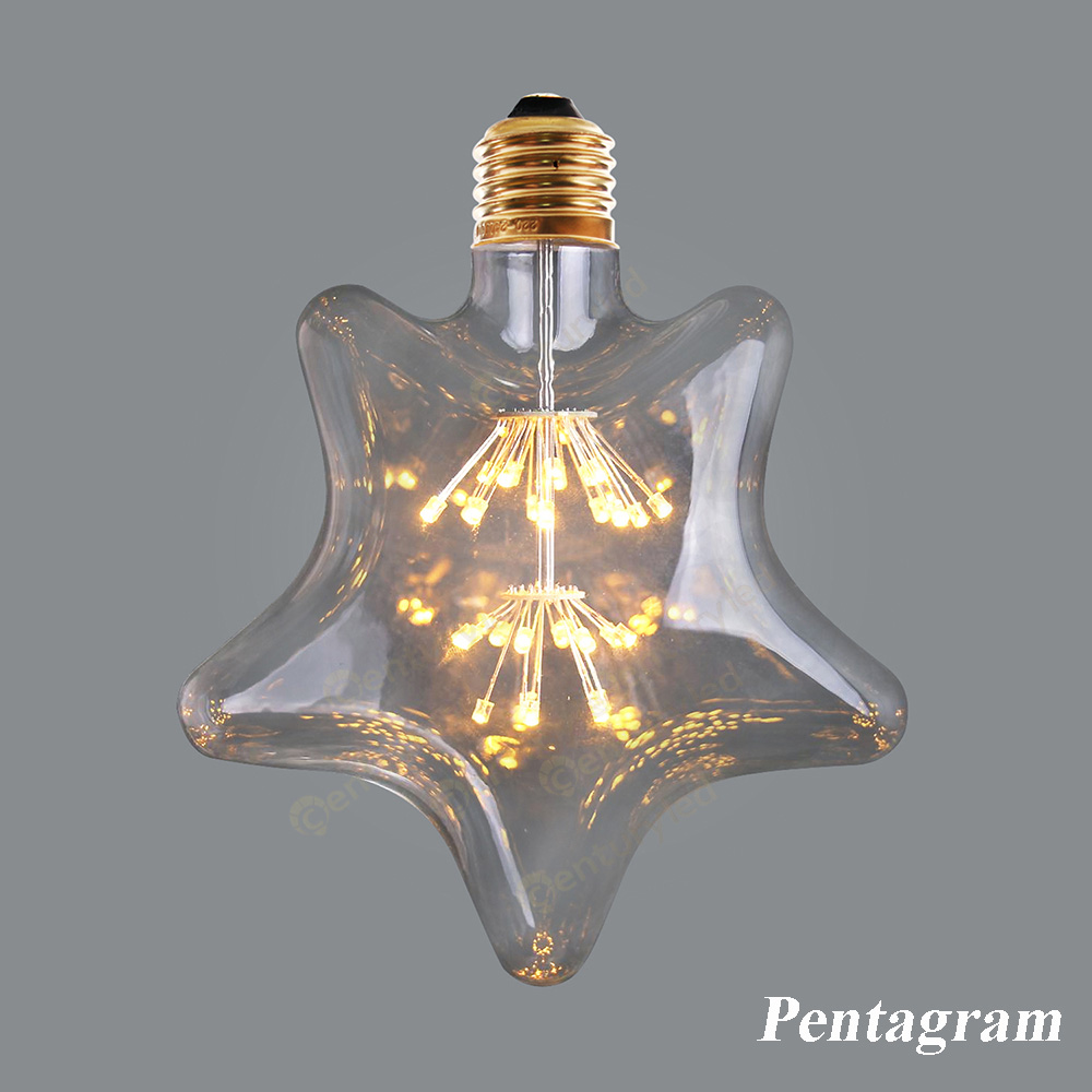Star e26 retro antique classical bulb Sky lamp LED Light Bulb,Fireworks Starry,Ultra warm 2200K,Decorative for Pendant Bed Room