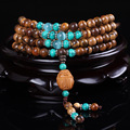 Pure Natural Handmade Genuine Round 108 Fragrance Incense Wood Ornaments Prayer Beads Buddhist Buddha Meditation
