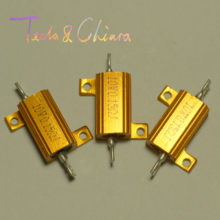 4R 4 4ohm 500R 500 500ohm R Ohm 10W Watt Gold Tone Wirewound Aluminum Power Metal Shell Case Resistance Resistor RX24(China)