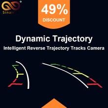 Pistas Trayectoria Dinámica inteligente Cámara de Visión Trasera HD CCD Auto Reversa de la Cámara de Marcha Atrás Aparcamiento Asistencia