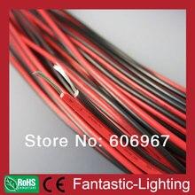 Красные и черные провода 100 м/лот 2-контактный AWG20 кабель удлинитель провода для светодиодный полосы света одного цвета