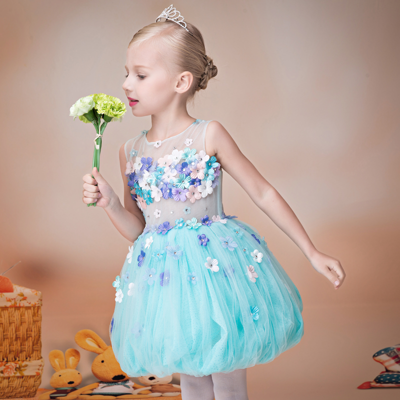 Cute Princess Flower Girl Dresses 2017 Latest Kids Dresses For Girls Children Clothing Lovely Dress Summer Girls Short HS137 lovely toddler kids baby girl summer dress bunny ear short sleeve hooded outfit one pieces princess children dresses sundress