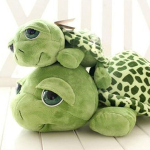 2018 New arriving 20cm Army Green Big Eyes Turtle Plush Toy Turtle Doll Turtle Kids As Birthday Christmas Gift Free shipping(China)