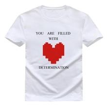 Undertale T Shirt Men Cotton Short Sleeve T-shirt Funny Heart Print Undertale sans Tee Shirts Size XS-XXL