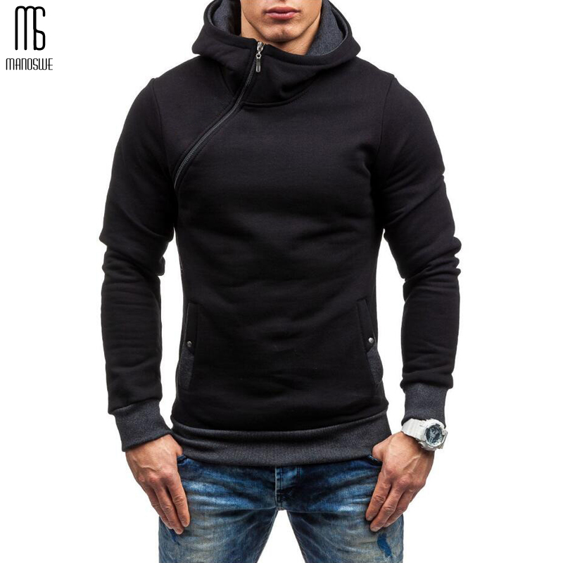 Manoswe Men's Winter Warm Long Sleeve Hoodie Sweatshirt Fashion Sports Tops Mens Hip Hop Pullover Hoodies Jacket Autumn Tops