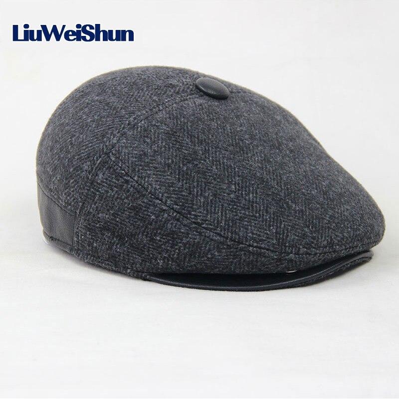 226f970671689 Jamont para hombre de punto de lana gorra de Boina invierno cálido sombrero  para hombre de