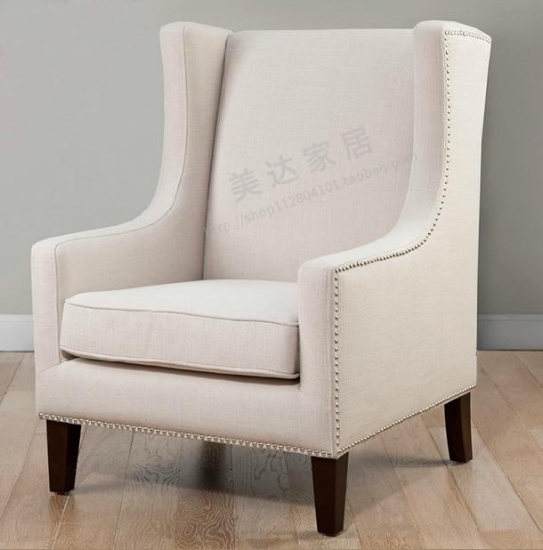 European High Back Chair American Tiger Den Bedroom Sofa