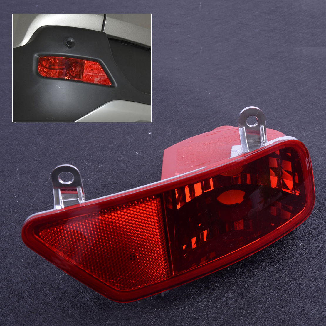 beler Bumper Left Rear Tail Fog Light Lamp Cover Case Shell Fit For Peugeot 3008 2009 2010 2011 2012 2013 2014 2015 image