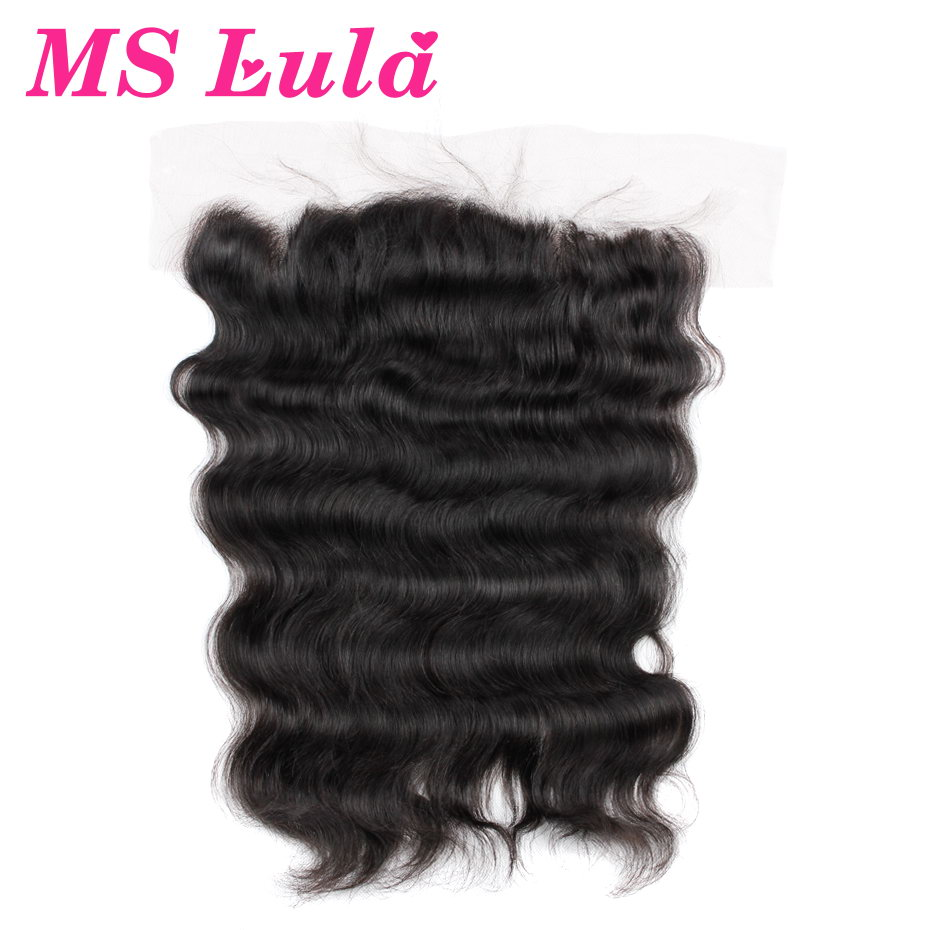 MS Lula Hair Pre Plucked Lace Frontal Closure Brazilian Body Wave Natural Hairline with Baby Hair Remy Human Hair Free Shipping